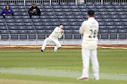 Craig Miles of Gloucestershire takes a catch - Mandatory by-line: Robbie Stephenson/JMP - 01/04/2016 - CRICKET - Bristol County Ground - Bristol, United Kingdom - Gloucestershire v Durham MCC University - MCC University Match