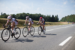 A small group of riders tries to reconnect with the main peloton in the third lap of the 121.5 km road race of the UCI Women's World Tour's 2016 Grand Prix Plouay women's road cycling race on August 27, 2016 in Plouay, France. (Photo by Balint Hamvas/Velofocus)