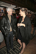 Richard Buckley and Tara Lewis, Book launch of Pretty Things by Liz Goldwyn at Daunt <br />Books, Marylebone High Street. London 30 November 2006.   ONE TIME USE ONLY - DO NOT ARCHIVE  © Copyright Photograph by Dafydd Jones 248 CLAPHAM PARK RD. LONDON SW90PZ.  Tel 020 7733 0108 www.dafjones.com