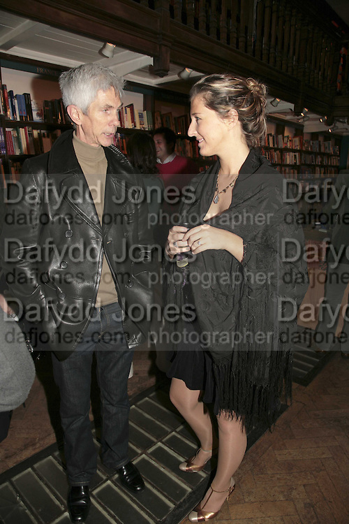 Richard Buckley and Tara Lewis, Book launch of Pretty Things by Liz Goldwyn at Daunt <br />