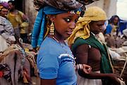 Girl at treet market, Hara, Ethiopia