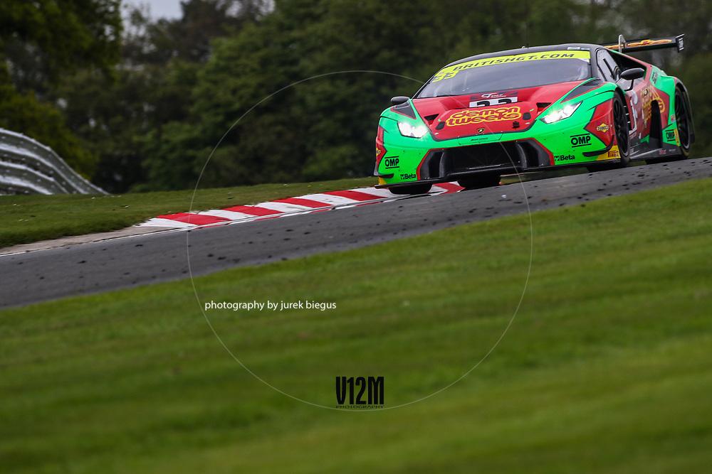 Barwell Motorsport Lamborghini Huracan GT3   Jon Minshaw   Phil Keen   British GT Championship   Oulton Park   17 April 2017   Photo: Jurek Biegus