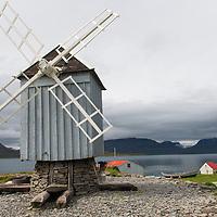 Windmill on Vigur Island in Iceland.