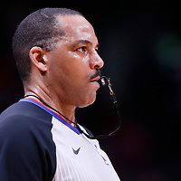 01 April 2018: referee Bennie Adams (47) is seen during the Denver Nuggets 128-125 victory over the Milwaukee Bucks, at the Pepsi Center, Denver, Colorado, USA.