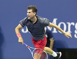 September 4, 2018 - New York, New York, United States - Dominic Thiem of Austria serves during US Open 2018 quarterfinal match against Rafael Nadal of Spain at USTA Billie Jean King National Tennis Center (Credit Image: © Lev Radin/Pacific Press via ZUMA Wire)