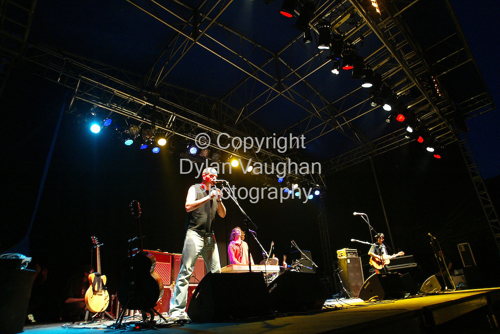 8/8/2004.The Hothouse Flowers pictured on stage at the Kilkenny Arts festival Woodstock 2004 concert in Inistioge..Picture Dylan Vaughan