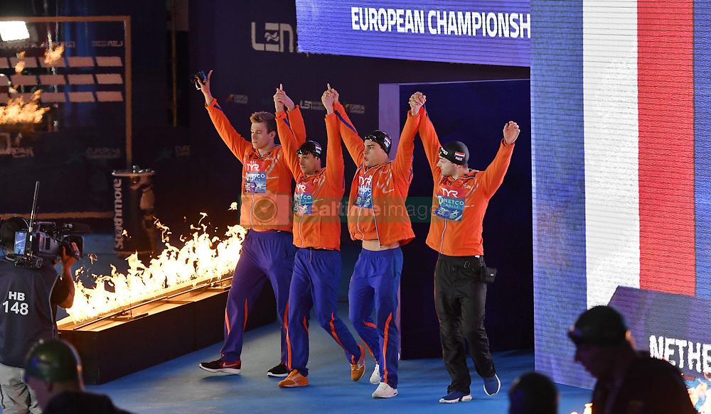 09-08-2018 ZWEMMEN: LEN EUROPEAN CHAMPIONSHIPS: GLASGOW<br /> 4x100 meter relay mannen<br /> <br /> Foto: SCS/Soenar Chamid