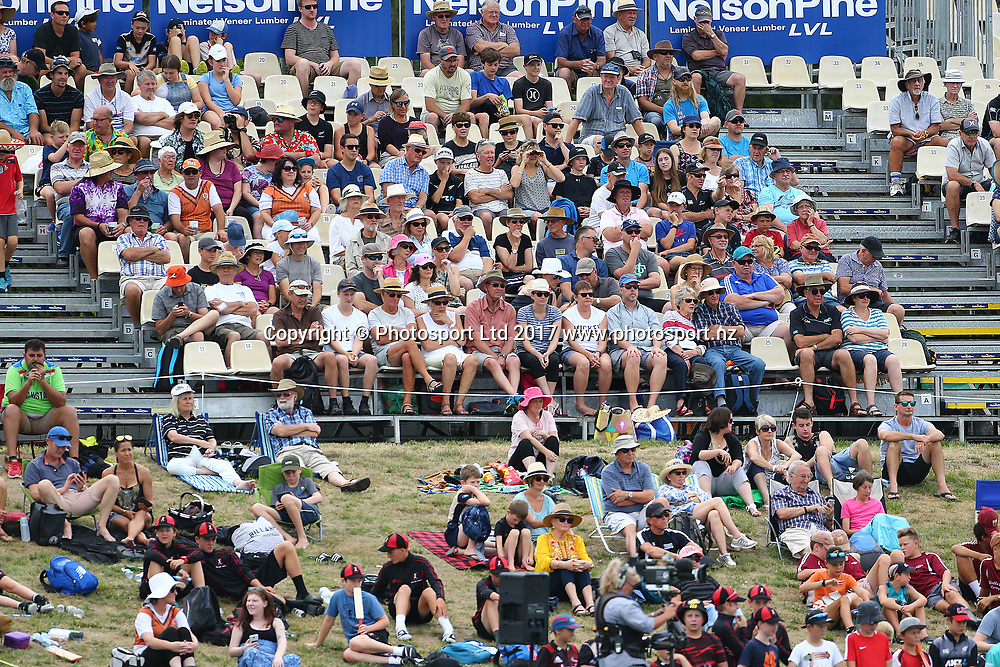 Some of the crowd during the Second One-Day game between Black Caps v Pakistan, Saxton Oval, Nelson, Tuesday 9th Janurary 2018. Copyright Photo: Evan Barnes/ © www.Photosport.nz 2018