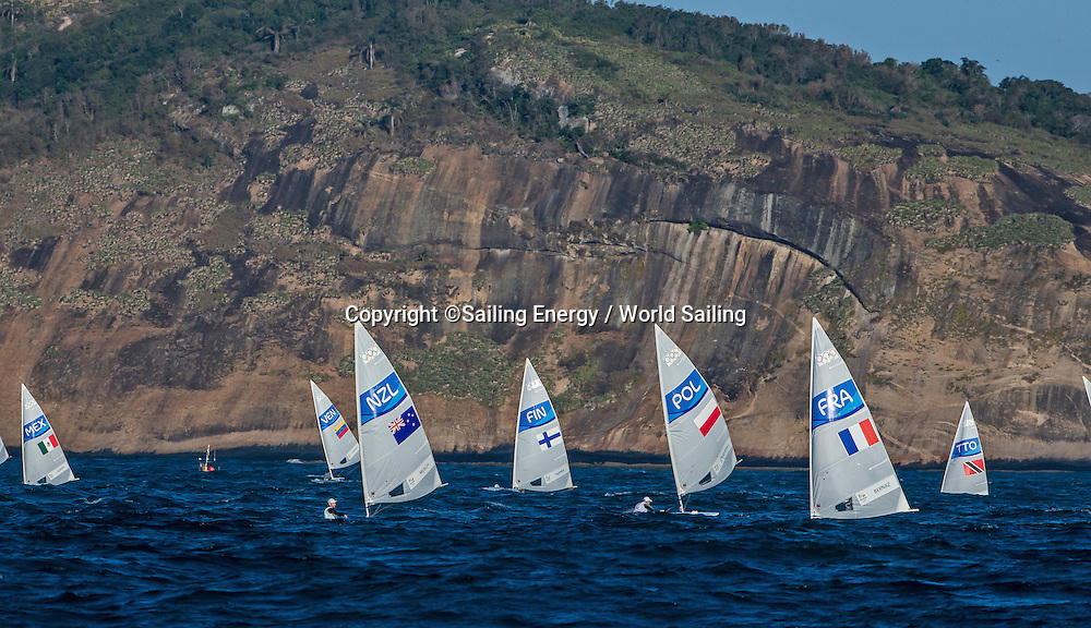 Laser class racing, Sam Meech of New Zealand. The Rio 2016 Olympic Sailing Competition features 380 athletes from 66 nations, in 274 boats racing across ten Olympic disciplines. Racing runs from Monday 8 August through to Thursday 18 August 2016 with 217 male and 163 female sailors racing out of Marina da Gloria in Rio de Janeiro, Brazil. Sailing made its Olympic debut in 1900 and has been a mainstay at every Olympic Games since 1908. For more information or requests please contact Daniel Smith at World Sailing on marketing@sailing.org or phone +44 (0) 7771 542 131.