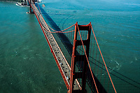 Aerial view of the Golden Gate Bridge, San Francisco California