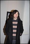 BOBBY GILLESPIE, Private view, Paul Simonon- Wot no Bike, ICA Nash and Brandon Rooms, London. 20 January 2015