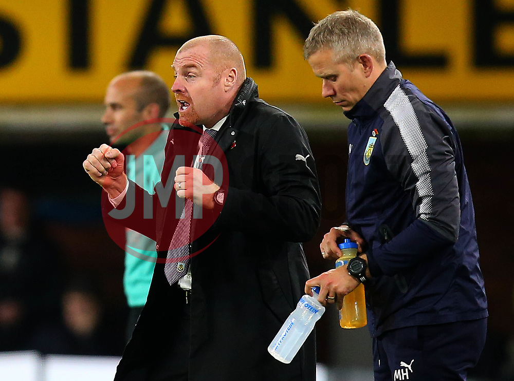 An animated Burnley manager Sean Dyche - Mandatory by-line: Robbie Stephenson/JMP - 30/10/2017 - FOOTBALL - Turf Moor - Burnley, England - Burnley v Newcastle United - Premier League