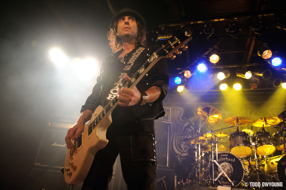 Photos of the British heavy metal band Motörhead performing on February 20, 2011 at Pop's in Sauget, IL.
