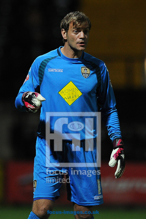 Roy Carroll of Notts County during the Sky Bet League 1 match at Meadow Lane, Nottingham<br /> Picture by Richard Blaxall/Focus Images Ltd +44 7853 364624<br /> 19/08/2014