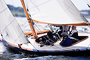 Totem sailing in the Museum of Yachting Classic Yacht Regatta.