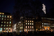 Les Voyageurs (The Travellers)<br /> by C&eacute;dric Le Borgne in St James - Lumiere London: the &lsquo;biggest-ever&rsquo; light festival to hit the capital.  Produced by Artichoke and supported by the Mayor of London, for four evenings in January a host of international artists illuminate the city from 6:30pm to 10:30pm each night.  Iconic architecture has been transformed with 3D projections, interactive installations and other extraordinary light works.
