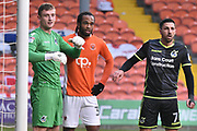 Blackpool Forward, Nathan Delfouneso (30) during the EFL Sky Bet League 1 match between Blackpool and Bristol Rovers at Bloomfield Road, Blackpool, England on 13 January 2018. Photo by Mark Pollitt.