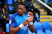 Peterborough United forward Omar Bogle (26) walks out before the EFL Sky Bet League 1 match between Peterborough United and Southend United at London Road, Peterborough, England on 3 February 2018. Picture by Nigel Cole.