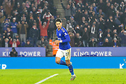 GOAL Ayoze Perez (17) scores from the spot during the Premier League match between Leicester City and West Ham United at the King Power Stadium, Leicester, England on 22 January 2020.