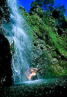 Puahokamoa Falls, off the Hana Highway, Maui, Hawaii