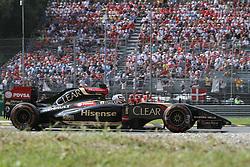 07.09.2014, Autodromo di Monza, Monza, ITA, FIA, Formel 1, Grand Prix von Italien, Renntag, im Bild Romain Grosjean from Lotus F1 Team // during the race day of Italian Formula One Grand Prix at the Autodromo di Monza in Monza, Italy on 2014/09/07. EXPA Pictures © 2014, PhotoCredit: EXPA/ Eibner-Pressefoto/ Cezaro<br /> <br /> *****ATTENTION - OUT of GER*****