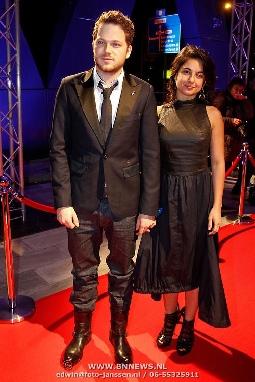 NLD/Hilversum/20120123 - Beeld en Geluid Awards 2011, Teun Luijkx en partner …..
