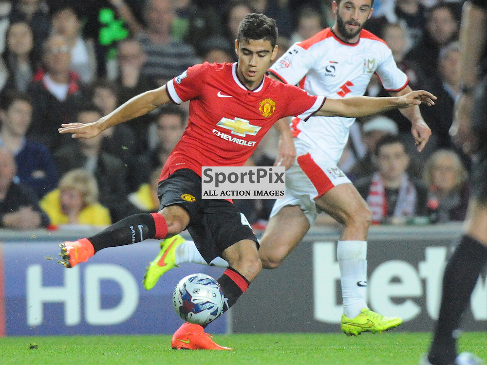 Andreas Pereira, Manchester United, Mk Dons v Manchester United, Capital One Cup,  Milton Keynes, Stadium MK, Tuesday 26th August 2014