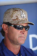 LOS ANGELES, CA - MAY 27:  Don Mattingly #8 of the Los Angeles Dodgers talks to the media before the game against the Los Angeles Angels of Anaheim on Monday, May 27, 2013 at Dodger Stadium in Los Angeles, California. The Dodgers won the game 8-7. (Photo by Paul Spinelli/MLB Photos via Getty Images) *** Local Caption *** Don Mattingly