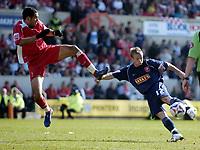 Photo: Jonathan Butler.<br /> Swindon Town v Walsall. Coca Cola League 2. 05/05/2007.<br /> Dean Keates scores for Walsall.