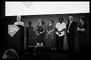 DIRECTOR OF THE WHITWORTH MARIA BALSHAW, NICOLA WALKER; JO BEGGS; BEN OKRI; CHRIS SMITH, The £100,000 Art Fund Prize for the Museum of the Year,   Tate Modern, London. 1 July 2015
