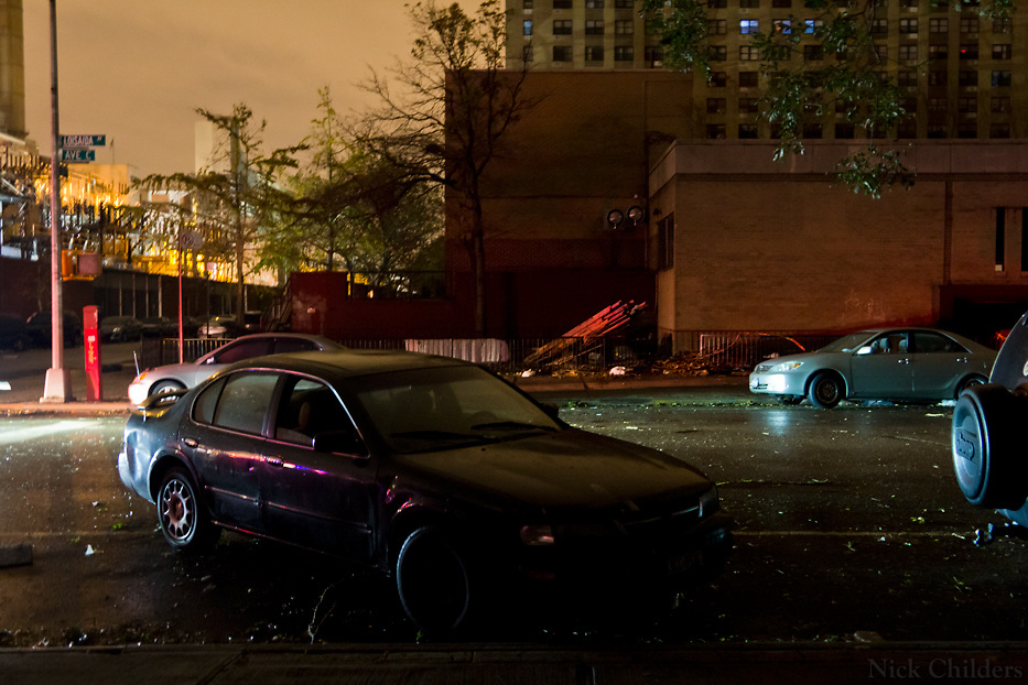 The day after Hurricane Sandy in the East Village in Manhattan where residents were without power for days- New York City