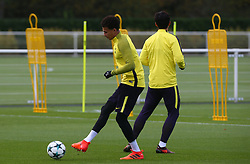 October 31, 2017 - Enfield, England, United Kingdom - Tottenham Hotspur's Dele Alli..during a Tottenham Hotspur training session ahead of the UEFA Champions League Group H match against Real Madrid  at Tottenham Hotspur Training centre on 31 Oct , 2017 in Enfield, England. (Credit Image: © Kieran Galvin/NurPhoto via ZUMA Press)