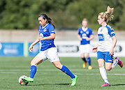 Jessica King (Everton Ladies)in action during the FA Women's Super League match between Durham Women FC and Everton Ladies at New Ferens Park, Belmont, United Kingdom on 30 August 2015. Photo by George Ledger.