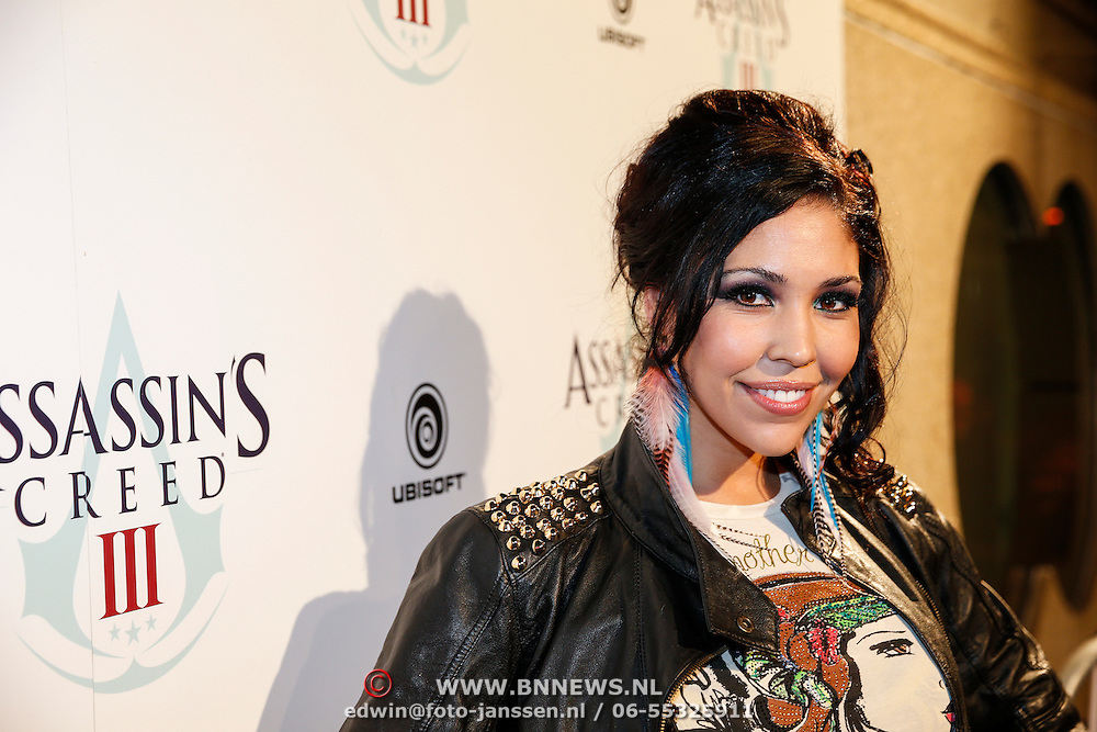NLD/Amsteram/20121025- Lancering Assassin's Creed game, Hind Laroussi Tahari