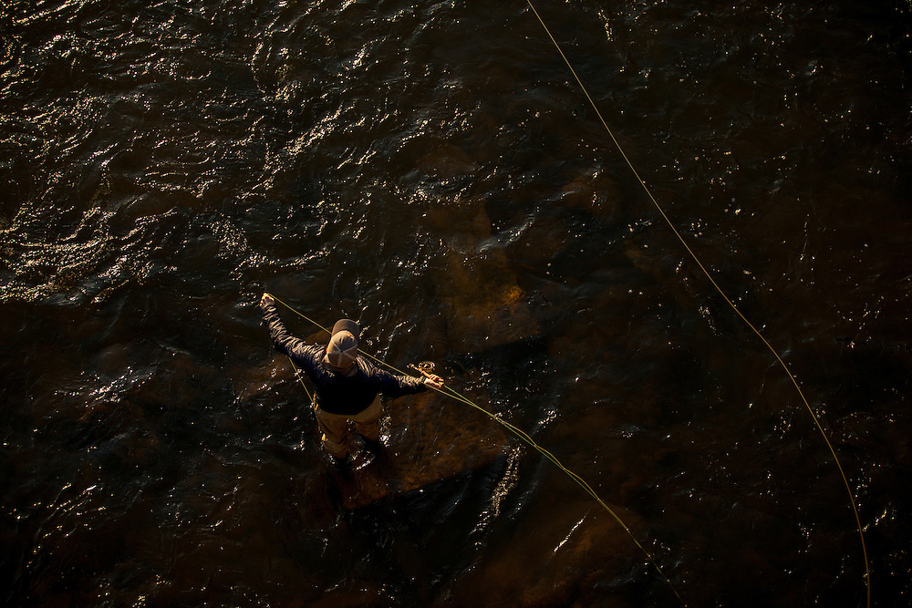 Shad fishing in Richmond, Virginia. Aerial Photography