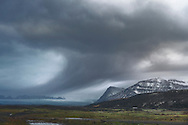 Stormy winter day in South Iceland