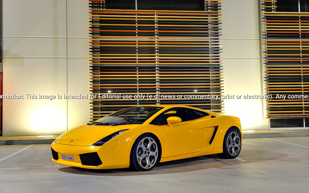2005 Lamborghini Gallardo (Giallo Midas) .Docklands, Melbourne.18th October 2009.(C) Joel Strickland Photographics.Use information: This image is intended for Editorial use only (e.g. news or commentary, print or electronic). Any commercial or promotional use requires additional clearance.