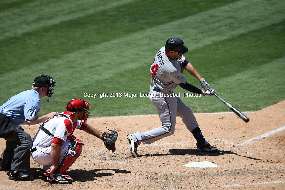ANAHEIM, CA - JULY 24:  Trevor Plouffe #24 of the Minnesota Twins bats during the game against the Los Angeles Angels of Anaheim on Wednesday, July 24, 2013 at Angel Stadium in Anaheim, California. The Angels won the game in a 1-0 shutout. (Photo by Paul Spinelli/MLB Photos via Getty Images) *** Local Caption *** Trevor Plouffe