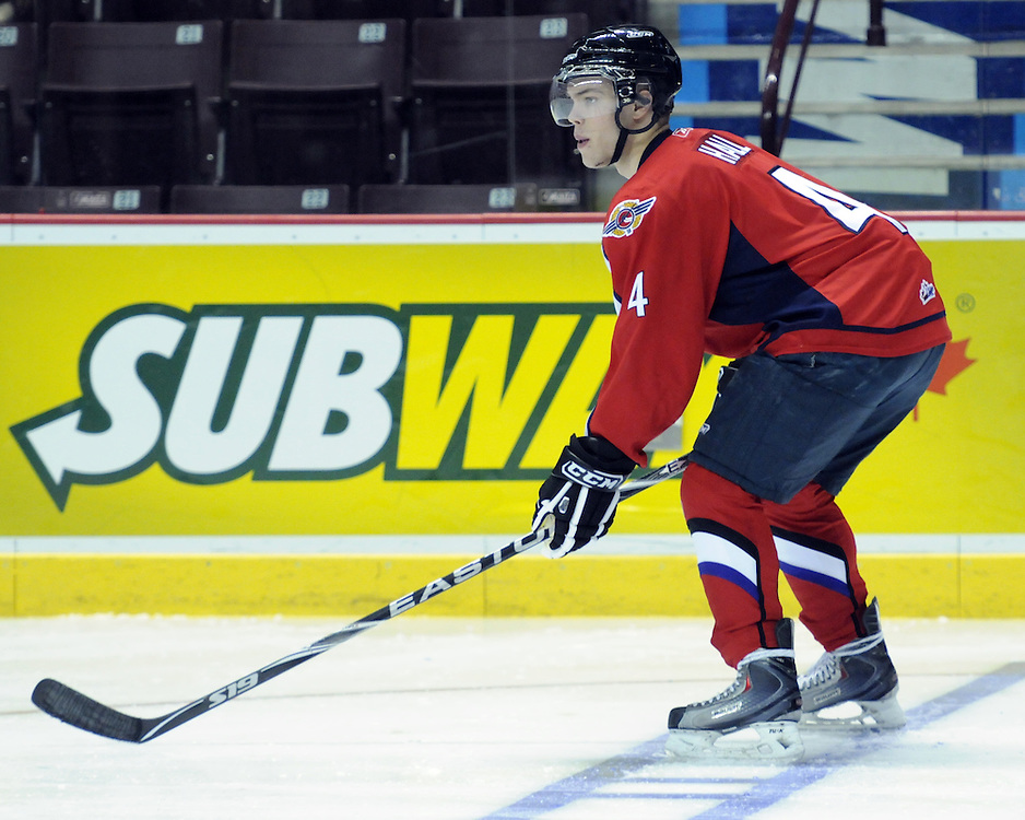 Taylor Hall of the Windsor Spitfires participates in Next Testing at the Home Hardware CHL Top Prospects Game in Windsor, ON on Tuesday. Photo by Aaron Bell/CHL