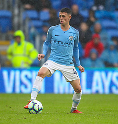 September 22, 2018 - Cardiff City, England, United Kingdom - Phil Foden of Manchester City in action during the Premier League match between Cardiff City and Manchester City at Cardiff City Stadium,  Cardiff, England on 22 Sept 2018. (Credit Image: © Action Foto Sport/NurPhoto/ZUMA Press)