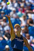 Angelique Kerber of Germany serves during the Nature Valley International at Devonshire Park, Eastbourne, United Kingdom on 27 June 2018. Picture by Martin Cole.