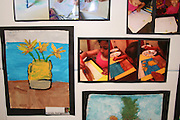 The Netherlands inspired the students to try their hand at painting a Van Gogh still life.