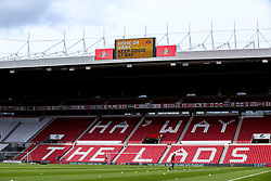 A Covid-19 message is shown on the big screen at The Stadium of Light ahead of the Sky Bet League One fixture between Sunderland and Bristol Rovers - Mandatory by-line: Robbie Stephenson/JMP - 12/09/2020 - FOOTBALL - Stadium of Light - Sunderland, England - Sunderland v Bristol Rovers - Sky Bet League One