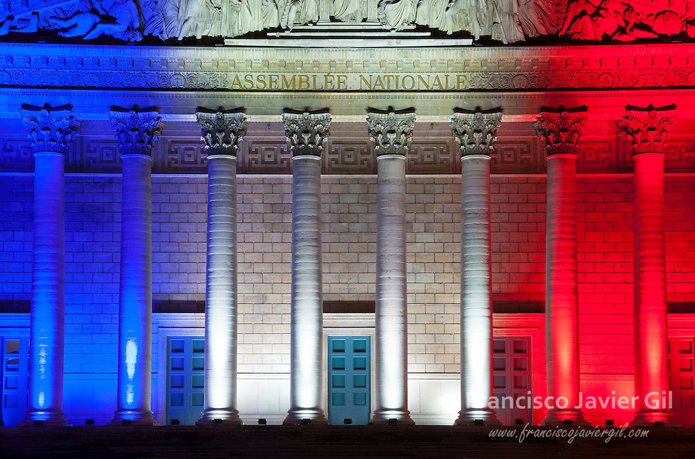 National assembly at 14 july, Paris, Ile de France, France
