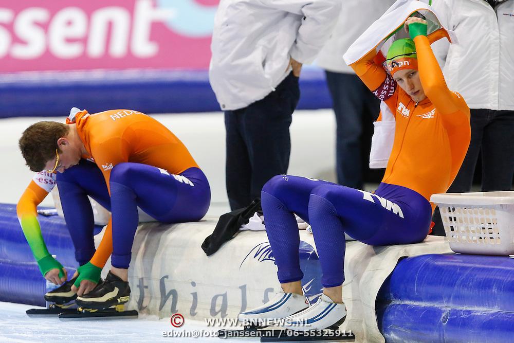 NLD/Heerenveen/20130112 - ISU Europees Kampioenschap Allround schaatsen 2013 dag 2, 1500 meter heren, Sven Kramer - Jan Blokhuijsen