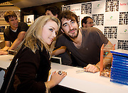 HMV welcomed The Coronas to HMV Galway  for a live performance and to sign copies of their highly anticipated third album Closer To You and met Karen Naughton from Roscommon. Photo:Andrew Downes.