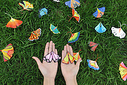 China: A Girl Paints Butterflies on Ginkgo Leaves, 4 Nov. 2016