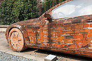SHANGHAI, CHINA - MARCH 01: (CHINA OUT) <br /> <br /> Mercedes Benz car made of red bricks<br /> <br /> A Mercedes Benz car made of red bricks parks at Red Town Creative Park on March 1, 2015 in Shanghai, China. An artist Dai Yun of Xi\'an who is now a sculpturer of Shenzhen Public Art Center, designed a red bricks car which was accorded with the original proportion of Mercedes Benz. <br /> ©Exclusivepix Media