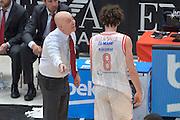 DESCRIZIONE : Milano Lega A 2015-16 Finale Play Off Gara 1 Olimpia EA7 Emporio Armani Milano Umana Reyer Venezia<br /> GIOCATORE : Massimiliano Menetti Amedelo Della Valle<br /> CATEGORIA : Fair play<br /> SQUADRA : Grissin Bon Reggio Emilia<br /> EVENTO : Campionato Lega A 2015-2016 Finale play off Gara 1<br /> GARA : Olimpia EA7 Emporio Armani Milano Umana Reyer Venezia <br /> DATA : 03/06/2016 <br /> SPORT : Pallacanestro <br /> AUTORE : Agenzia Ciamillo-Castoria/I.Mancini Galleria : Lega Basket A 2015-2016 <br /> Fotonotizia : Milano Lega A 2015-16 Finale Play Off Gara 1 Olimpia EA7 Emporio Armani Milano Umana Reyer Venezia