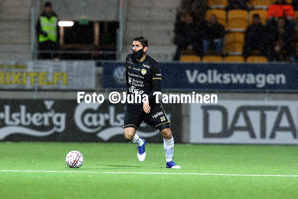 5.4.2017, OmaSP Stadion, Sein&auml;joki.<br /> Veikkausliiga 2017.<br /> Sein&auml;joen Jalkapallokerho - FC Lahti.<br /> Diego Bardanca - SJK
